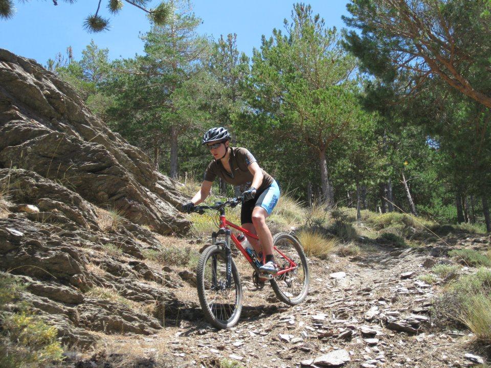 Lindsey MTBing in Spain