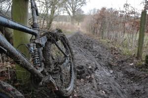 Muddy mountain bike by Jason Rogers