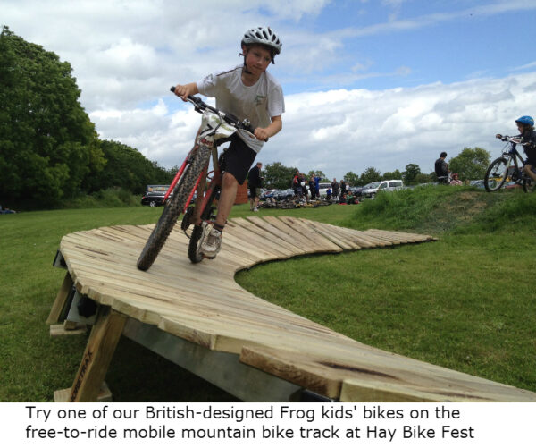 Bike fest will feature a free-to-ride mobile mountain bike track in the grounds of Hay Castle