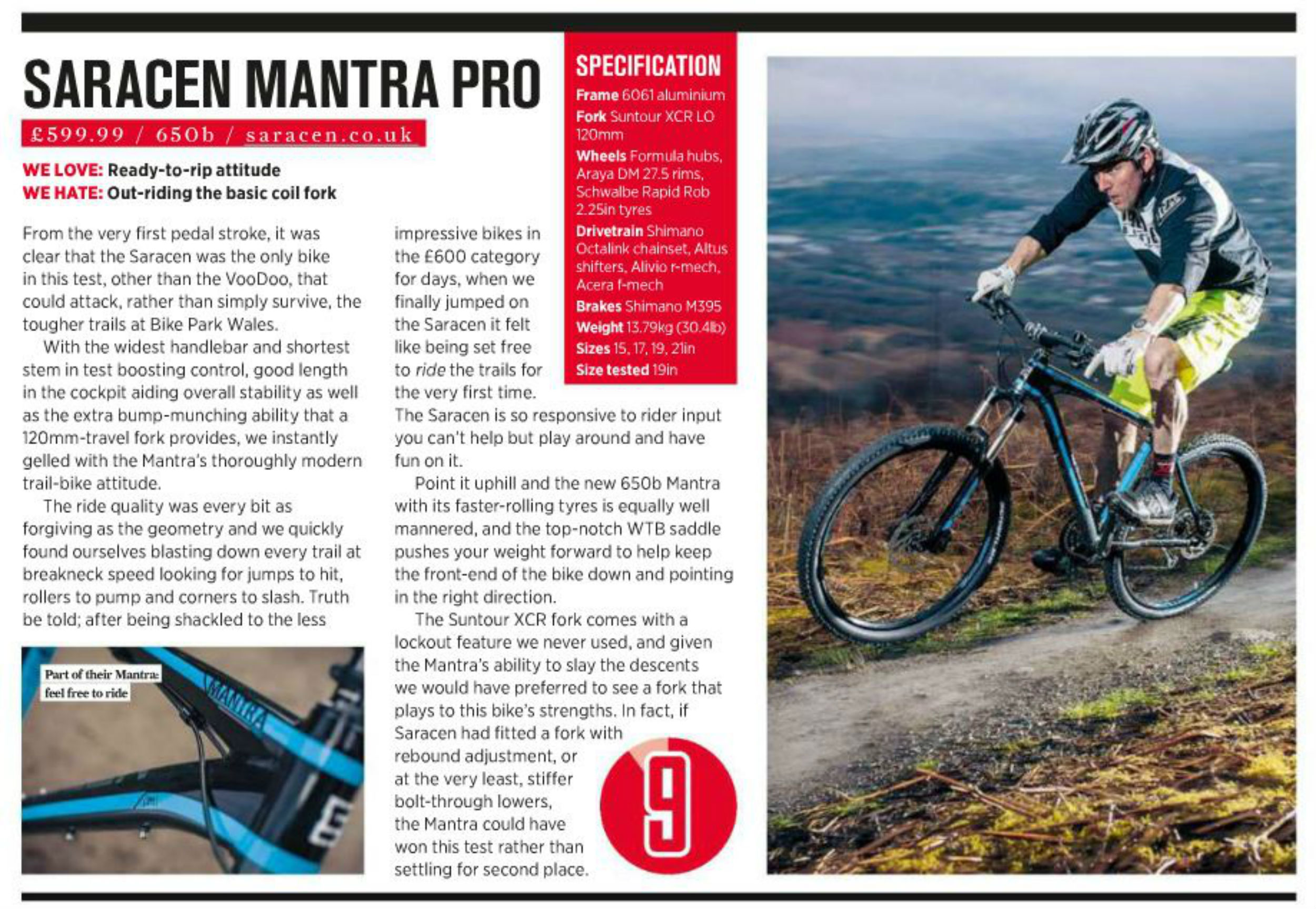 Saracen Mantra Pro - MBR hardtail of the year grouptest
