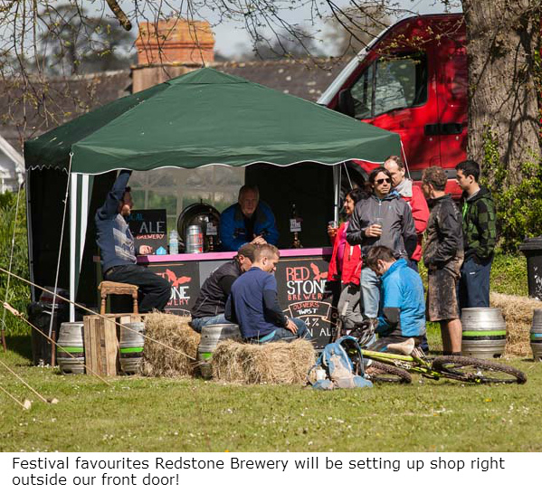redstone brewery at Hay Bike Fest