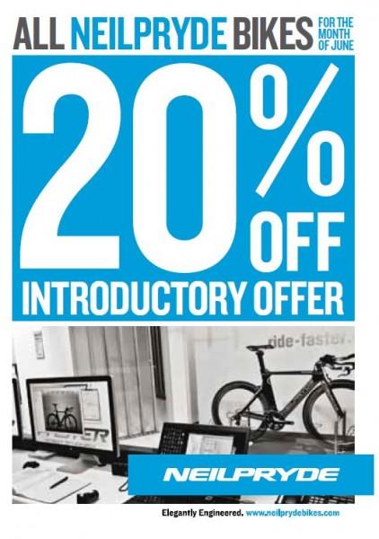 Neil Pryde bikes 20 per cent off