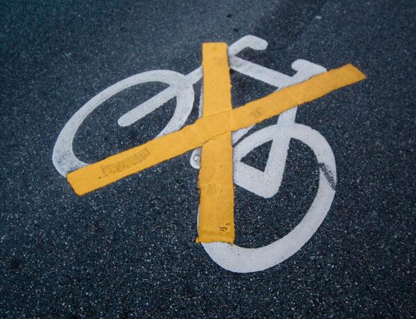 Closed bike lane