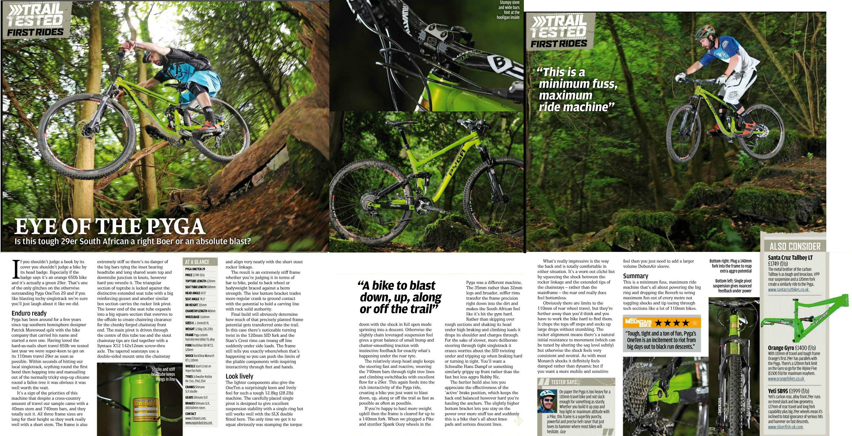 Pyga OneTen 29er review - What Mountain Bike Mag