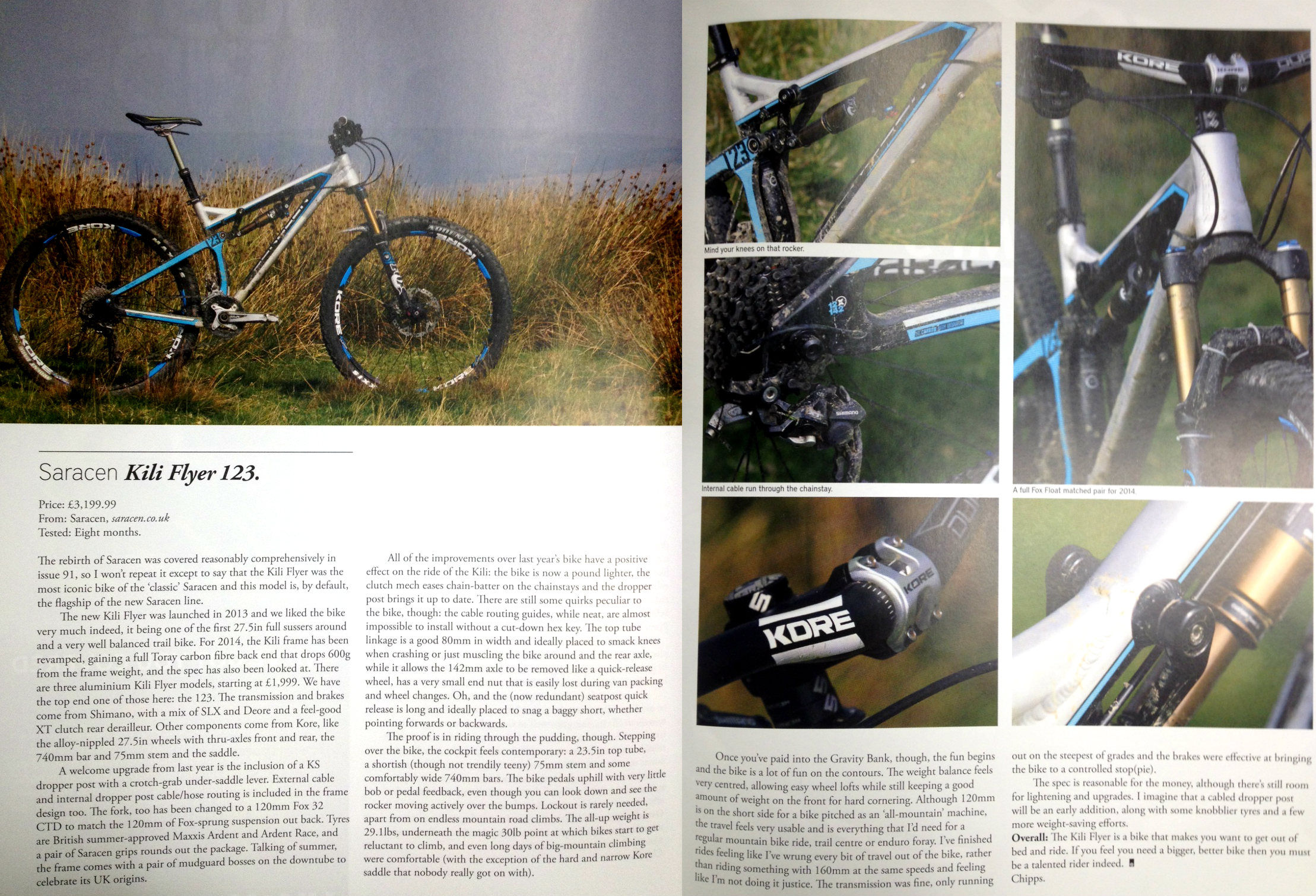 Saracen Kili Flyer Gets The Thumbs Up From Singletrack Mag Www