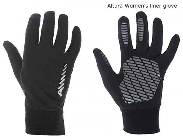 altura women's liner glove