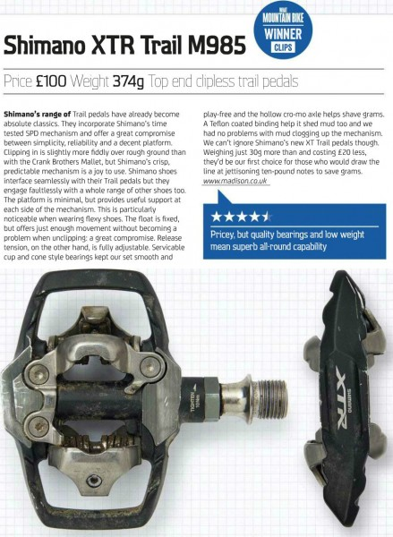 shimano XTR trail pedal review