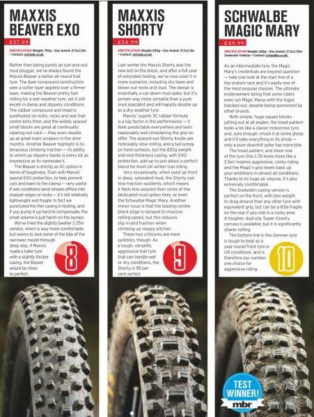 best winter mountain bike tyres
